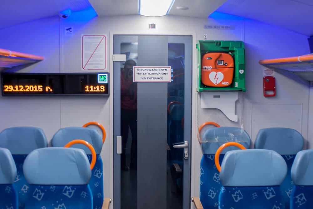 pociąg, przedział, fotel, podróż