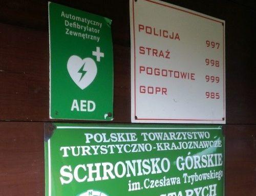 AED w schroniskach górskich – must have, a jednak (jeszcze) nie wszędzie